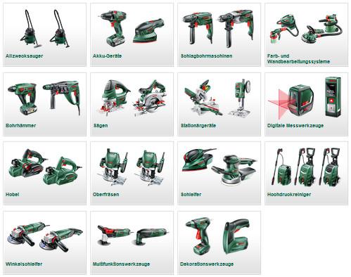 bosch werkzeuge grün blau